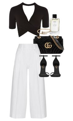 """""""Untitled #22002"""" by florencia95 ❤ liked on Polyvore featuring Gucci, Topshop, Diane Von Furstenberg, Cartier and Yves Saint Laurent"""