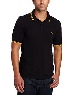Fred Perry Men/'s Short Sleeve M3600 Twin Tipped Polo Shirt Dk Carbon//Pale Lilac