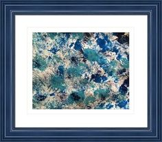 abstract blue 545, by  fractal mandala art