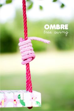 DIY pink ombre tree swing