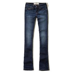 Hollister Low-Rise Boot Jeans (79 BRL) ❤ liked on Polyvore featuring jeans, pants, dark wash, low rise jeans, faded jeans, faded blue jeans, dark wash jeans and hollister co jeans