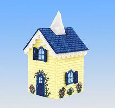 Mary Maxim Cottage Tissue Box Cover Plastic Canvas Kit #MaryMaxim