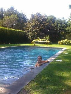 Love this Hampton's pool with no walkway. Just grass right up to the edge.