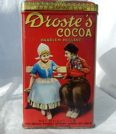 Vintage Droste's Cocoa Tin by AntiqueGardens on Etsy, $14.95
