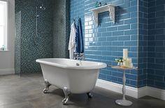 Bathroom with Arabia Blue Mosaic