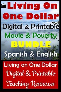 This Living on One Dollar Movie Bundle has a thorough unit about Poverty, Guatemala, World Problems, & Social Justice. Both Digital Units and the entire Printable Unit are included in this BUNDLE.*Cultural lessons, Hispanic Heroes, vocabulary, poverty presentation, authentic videos, assessments, comprehension questions, quizzes, journal prompts, and Edpuzzles are ready to use and are EDITABLE. This is a perfect unit for middle and high school students.