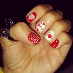 Nail art stamp ♥ love