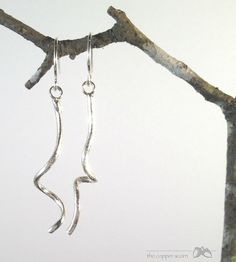 Small and Dainty STERLING Southern KUDZU Earrings by copperacorns