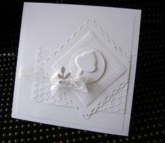Freely Embossed Wedding Acorn in White