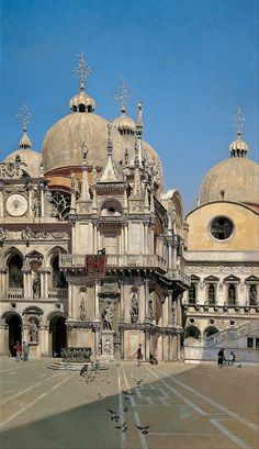 fleurdulys:  Courtyard of the Palace of the Dux of Venice - Martin Rico y Ortega 1883