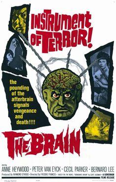 The Brain (1962) Stars: Anne Heywood, Peter van Eyck, Cecil Parker, Bernard Lee, Jack MacGowran, Jeremy Spenser ~  Director: Freddie Francis