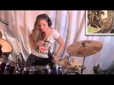 Girl Drummer, Female Drummer, Drums Sheet, Drum Cover, Drummers, Diy For Kids, Cool Girl, Sisters, Amazing