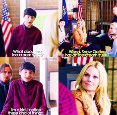 Whoa, Snow Queen has an ice-cream truck? Ouat Quotes, Strange Things, Believe In Magic, Captain Swan, Snow Queen, Abc News, Family Business, Best Shows Ever, Movies Showing