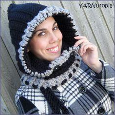 Handmade Crocheted Woodlynn Cowl Neck Scarf Hood by YARNutopia, $30.00