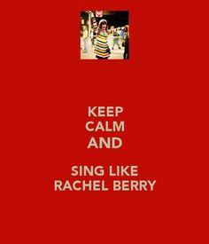 ...sing like rachel berry