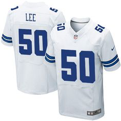 mens discount nike 50 sean lee elite white nfl dallas cowboys jersey