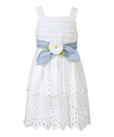 Bloome White Daisy Tie Dress - Toddler & Girls | zulily