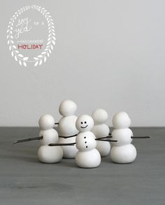 Clay Snowman Ornaments PLUS 50 other Adorable Handmade Christmas Ornaments!