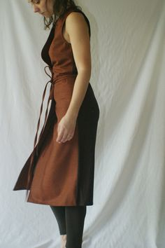 Wrap Dress/ Sleeveless Wool Jersey Wrap Dress by NervousWardrobe, $90.00