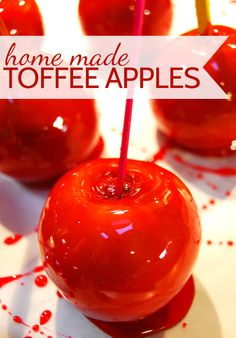 Making home made toffee apples - thanks to @Ali Velez Wright for sharing this fabulous recipe on my blog today