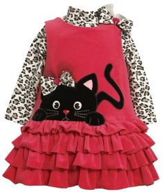 Amazon.com: Bonnie Baby-Girls Newborn Cat Applique Ribbed Velour Jumper Suit, Fuchsia, 3-6 Months: Clothing