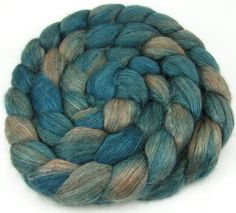 Spinning Fiber  Alpaca & Tussah Silk Combed Top by UpstreamAlpacas