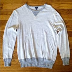 Men's J. Crew Sweater Very good used condition! Men's sweater with grey detail. J. Crew Sweaters Crew & Scoop Necks