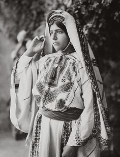 Woman in Embroidered Costume: Ramallah, Palestine 1898-1914