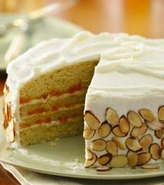 The combination of tasty fruit and toasted almonds couldn't get any sweeter than in this heavenly layer cake filled with juicy apricot filling.