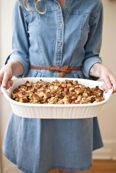 Bacon and Bourbon Stuffing - A BEAUTIFUL MESS