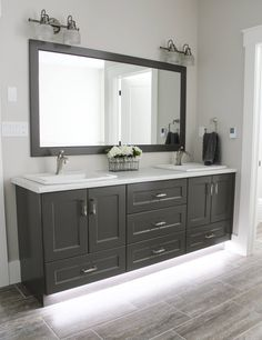 Double Sink Vanity, Vanity Design, Showcase Design, Vanities, Your Space, Bathrooms, Mirror, Furniture, Home Decor