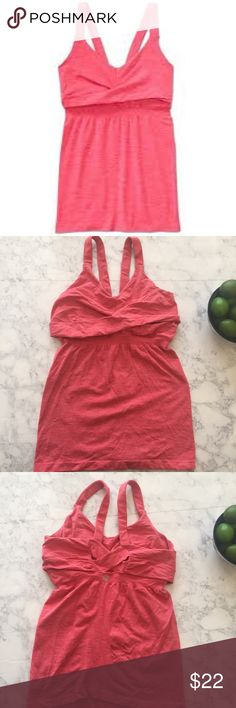 Athleta Intertwine Tank Watermelon Small Great condition; no defects. Attractive watermelon color with heathering. Size small. Bundle your likes and I'll send you an exclusive discount! No trades. Athleta Tops Tank Tops