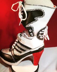 "189a6aecc787 Sparkle Custom Heels on Instagram  ""♢ ♥ Link in Profile ♢ ❤ SALE   harleyquinn  suicidesquad  rhinestoneheels  customheels  affordableluxury  ..."