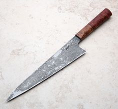 Mallee San Mai Chef Knife handmade by Saul Kokkinos-Kennedy of SKK Knives. Cool Knives, Knives And Swords, Pretty Knives, Best Chef Knife Set, Handmade Chef Knife, Best Pocket Knife, Pocket Knives, Fancy Kitchens, Japanese Kitchen