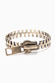 Zipper Cuff from Nasty Gal  - I wonder if this would fit my wrist better than the one I got from JewelMint... I like this design better too.