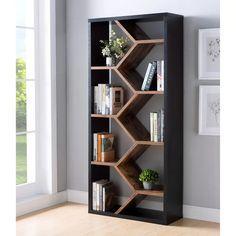 Creative Bookshelves, Modern Bookshelf, Bookshelves In Living Room, Bookshelf Design, Corner Bookshelves, How To Make Bookshelves, Apartment Bookshelves, Room Divider Bookcase, Bookshelf Ideas