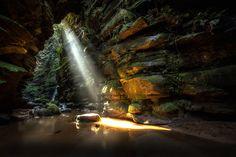"SunLight - Waterfall ""Buraco do Padre"" Ponta Grossa - PR Brazil"