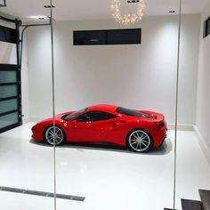 Lifestyle of Mr. Garage Renovation, Garage Interior, Dream Garage, Car Garage, Ultimate Garage, Cool Garages, Ferrari 488, Lamborghini, Modern Garage