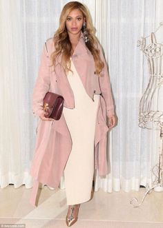Blushing beauty: On Saturday, Beyonce, 35, took to Instagram to show off a fashionable neutral look