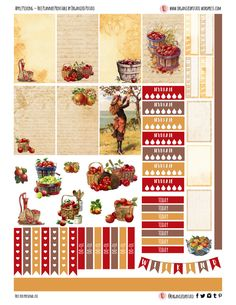 Apple Picking - Free Planner Printable for Classic Happy Planner #planner #printable #apple #applepicking #vintage #antique #fall #autumn #plannerprintable #freeprintable #fallprintable #organizedpotato