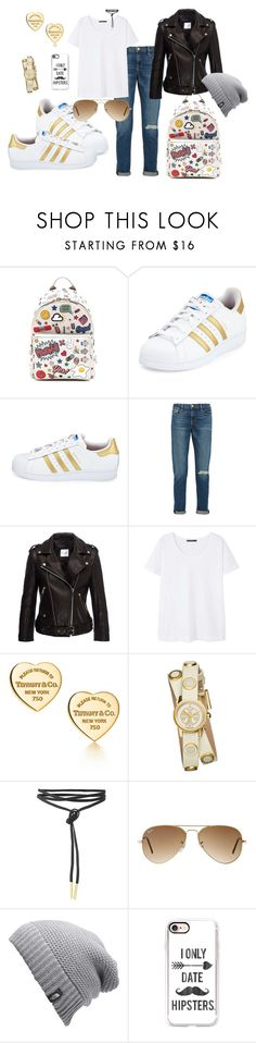 """""""Hip"""" by aniri310 on Polyvore featuring Anya Hindmarch, adidas, Frame, Anine Bing, Violeta by Mango, Tiffany & Co., Tory Burch, Ray-Ban, The North Face and Casetify"""