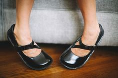 Alegria Shoes Dayna Women's Comfort Mary Jane in 'Black Waxy' - now on Closeout at Alegria Shoe Shop!