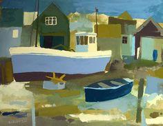Trawler at Walberswick by Richard Tuff