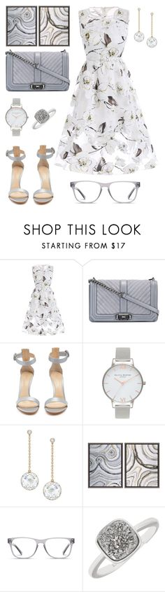 """""""Gray is also Sweet."""" by schenonek ❤ liked on Polyvore featuring Rebecca Minkoff, Gianvito Rossi, Olivia Burton, Swarovski, Shades of Grey by Micah Cohen and Marc Stone"""