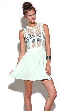 Nameless Fit N Flare Lace Dress at PacSun.com