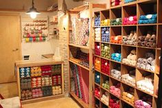 Tricotela (in the center of Seville) * recommended * - Easy Yarn Crafts Yarn Storage, Craft Storage, Storage Organization, Wool Shop, Yarn Shop, Easy Yarn Crafts, Crochet Home Decor, Sewing Studio, Sewing Rooms
