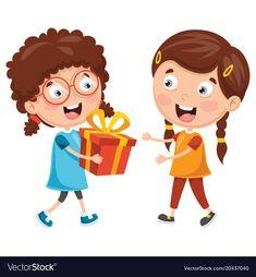 نتيجة بحث الصور عن girl give her friend a gift clipart Picture Comprehension, Gift Vector, Scene Kids, Baby Shawer, Cartoon Pics, 4 Kids, Giving, School Projects, Activities For Kids
