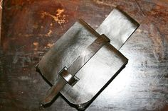 Simple traditional leather pouch design.
