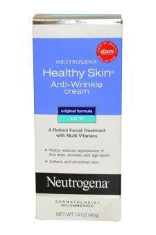 Neutrogena Healthy Skin Anti-Wrinkle Cream Original Formula 1.4 OZ by Neutrogena. $10.29. Healthy Skin Anti-Wrinkle. Neutrogena. Neutrogena Healthy Skin Anti-Wrinkle Cream Original Formula 1.4 oz is the #1 dermatologist recommended Retinol anti-wrinkle cream. It's clinically proven to both treat and help prevent fine lines, wrinkles and other signs of aging. This patented formula contains Retinol, Vitamin A in its purest form, to work deep within skin's surface where wri...