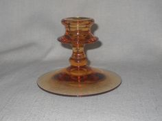 Fostoria Single Candlestick in Amber Blank # 2324 by LovesVintageFinds, $8.00